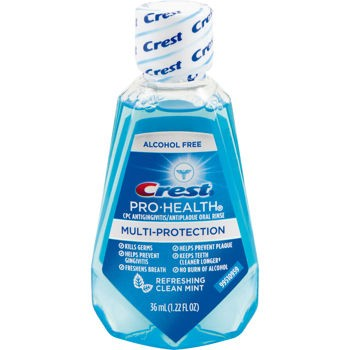 amostra gratis Amostra Gratis Anti-Séptico Bucal Crest Pro Health Rinse