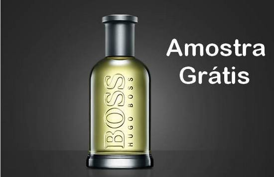 Amostra Gratis Perfume Boss Bottled