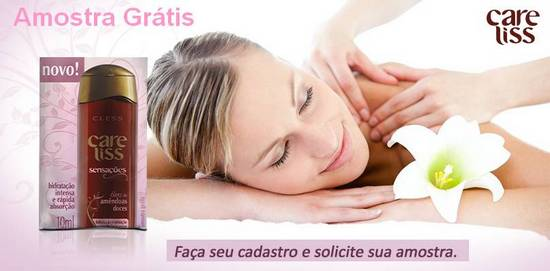 Amostra Gr�tis �leo de Am�ndoas Care Liss