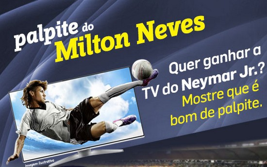 amostra gratis Concorra a uma TV de Led do Neymar