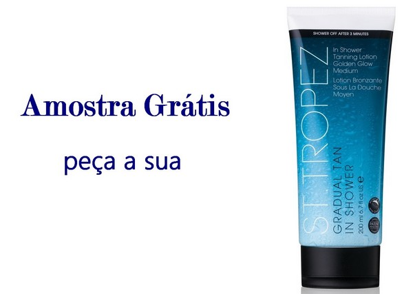 amostra gratis Amostra Grátis do ST Tropez Gradual Tan in Shower Glow Medium